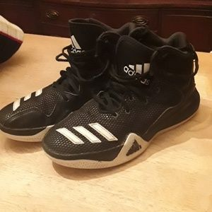 Adidas black and white dualthreat basketball shoes